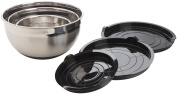 Mastrad F29253 Set of 3 Bowls with Lids 25 cm / 17 cm / 13 cm Stainless Steel