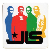 JLS Coloured Band Silhouette Individual Coaster