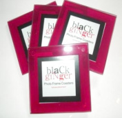 """. Photo Frame Coasters"""" Red Finish, Great Unusual Gift"""