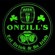 4x ccpa1768-g ONEILL'S Irish Shamrock Pub Ale Bar Beer Etched Engraved 3D Coasters
