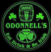 4x ccpa1875-g ODONNELL'S Irish Shamrock Pub Ale Bar Beer Etched Engraved 3D Coasters