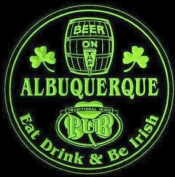 4x ccpa2082-g ALBUQUERQUE Irish Shamrock Pub Ale Bar Beer Etched Engraved 3D Coasters