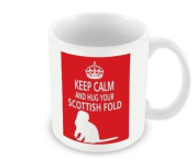 Cat Mug - Keep Calm And Hug Your Scottish Fold