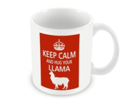 Pet Lover Designer Mug - Keep Calm And Hug Your Llama