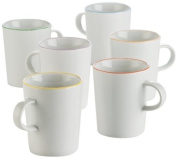 Arzberg Porcelain Cucina Colori 2100/70657/3224 Cup Set of Six Assorted