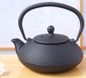 Tetsubin cast iron black Zen Ripple tea pot kettle 0.4 litre - a one person teapot Japanese style