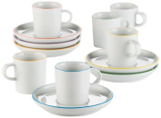 Arzberg Porcelain Cucina Colori 2100/70657/3715 Espresso Set of Twelve Assorted