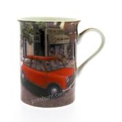 Fine Bone China Mug - Red Mini Car by Brian Tovey