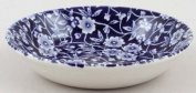 Burleigh Dark Blue Calico Butter Pat or Fruit Saucer 12 cm
