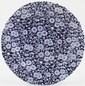Burleigh Dark Blue Calico Salad or Dessert Plate 21.5 cm