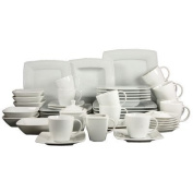 Creatable Victoria 50-Piece Big Dinner Set, White