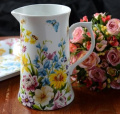 KATIE ALICE English Garden SHABBY CHIC Large Tall PORCELAIN JUG