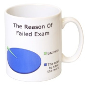 """The Reason Of Failed Exam"" Funny Student Gift Mug - MugsnKisses Collection - Each Mug Includes Free Chocolate Kiss!"