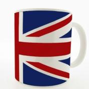 Union Jack Mug Novelty Mug - MugsnKisses Range - Each Mug Includes Free Chocolate Kiss!