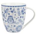 Queens Fine China Blue 'Penzance Crush' Mug