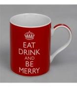 Eat Drink and Be Merry Fine China Mug - Boxed mug