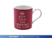 Keep Calm You Miserable Old Cow - Pink Mug Boxed