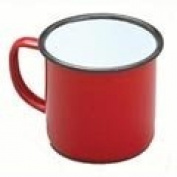 Falcon Red enamel Mug