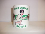Mad about Bowls Mug Cup Sports memorabilia G