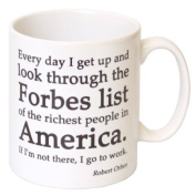 """If I'm Not On The Forbes List - I'm Going To Work"" Funny Gift Mug - MugsnKisses Collection - Each Mug Includes Free Chocolate Kiss!"
