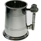 Great Gifts UK- 18th Key Handle Pewter Tankard - H:115mm Base dia