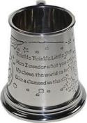 Great Gifts UK- Twinkle Twinkle Pewter Baby Mug - 1/4 pint /H:75mm Base dia:75mm