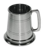 Great Gifts UK- Pewter Baby Christening Mug Tankard - 1/4 pint /H:75mm Base dia;75mm