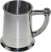 Great Gifts UK- Celtic handle pewter tankard - H:115mm Base dia
