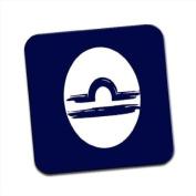 Zodiac Star Sign for Libra Single Premium Glossy Wooden Coaster