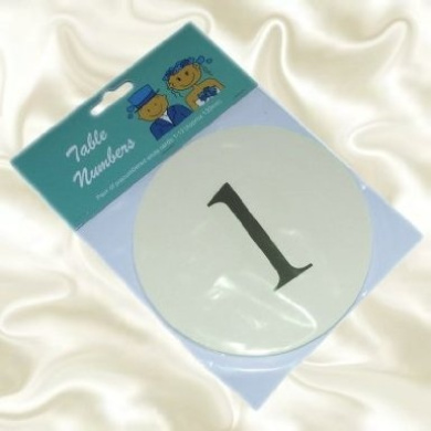 Pre-Numbered Cards 1 to 12 - Ivory