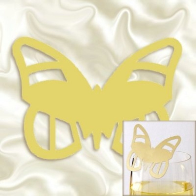 Gold Butterfly Place Cards pack 10