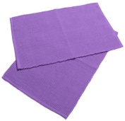 Homescapes - Two - Placemats - Purple - 100 % Ribbed, hand loom Cotton - 12 x 18 Inch ( 30 x 45 cm ) - Easy care - Washable at 60 Deg C