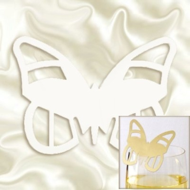 White Butterfly Place Cards pack 10