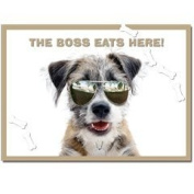 "Jack Russell Terrier Cross ""The Boss"" Plastic Pet Placemat"