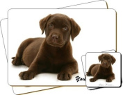 "Chesapeake Bay Retriever Dog ""Yours Forever..."" Sentiment Twin Leather Coaster and Placemat Gift Set"