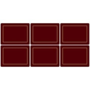 Pimpernel Classic Burgundy Placemats - Set of 6