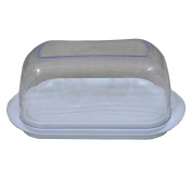 High Quality White Plastic Butter Dish Box with Clear Lid