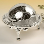 Butter Dish with Revolving Lid Silver Plated British Made with tarnish resistant finish that never needs polishing