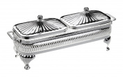 Butter Jam Dish in a Silver Plated frame with tarnish resistant finish that never needs silver polishing