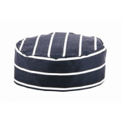 Butchers Stripe Chefs Skullcap One size fits all.