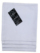 Homescapes - Four - White - Napkins - 100% Cotton - 18 x 18 Inch ( 45 x 45 cm ) Easy care table Hand Woven Napkins - Washable at 60 Deg C