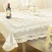 Chantal Lace Tablecloth 91cm Round Cream