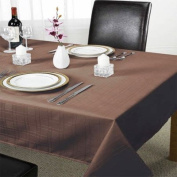 Chequers Tablecloth, Chocolate, 178cm Round Diametre