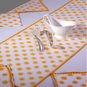 Grehom Table Runner - KanthaSun; 100% Cotton Table Runner; Hand Printed Table Linen; Size 150cm x 35cm; Beautiful Gift