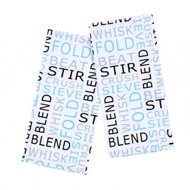 Mad About Cooking Whisk Printed Tea Towels, Pack of 2