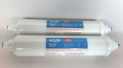 Fridge Water filters Compatible GE , Fits Fits Fits Fits Fits Fits Fits LG , for for for for for for for for for for Samsung , Daewoo , Bosch External Inline filter s Quickfit Pushfittings 2 PACK