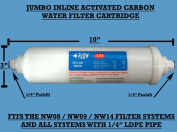 JUMBO Inline Carbon Water filter Cartridge Replacement for NW08 / NW09 / NW14 / All other filter systems with 0.6cm pipe
