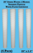 10cm x 51cm String Wound Sediment Particle 1 Micron Water filter Cartridges - Hard Well Water Filtering , Bio diesel WVO