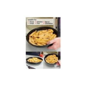 MICROWAVE CRISPING PAN MOUTH WATERING OVEN CHIPS BACON PIZZA AND MORE FROM YOUR MICROWAVE IN A FLASH