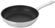 Silit 2628601601 Non-Stick Frying Pan Flat Secura Stainless Steel with Silitec Triple-Layer Non-Stick Coating 28 cm